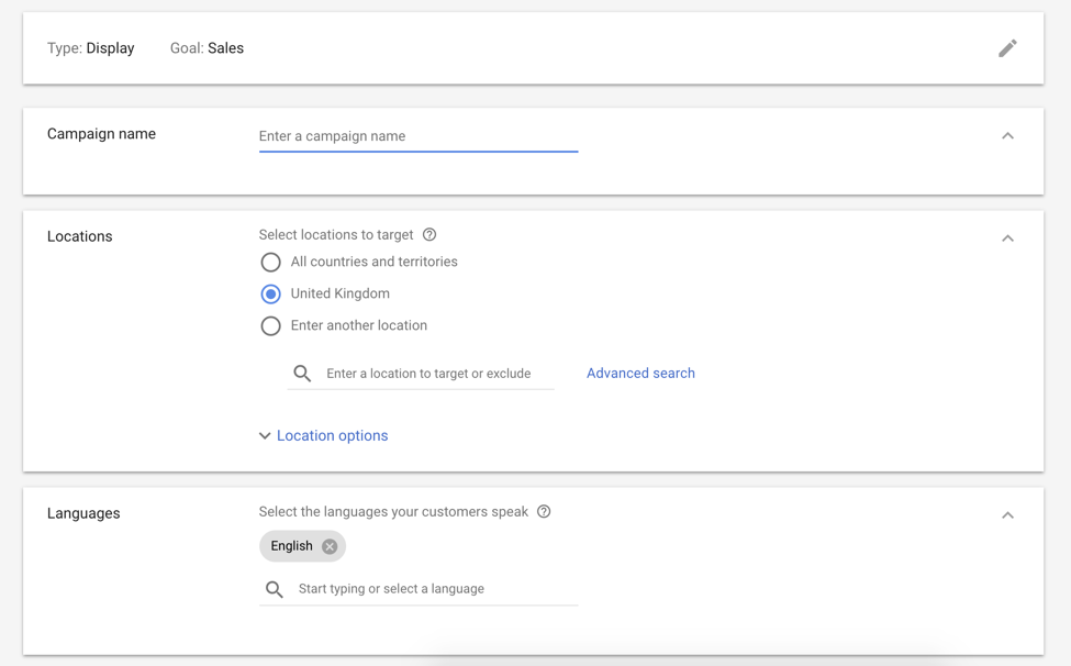 google ads setting up display retargeting screenshot 5