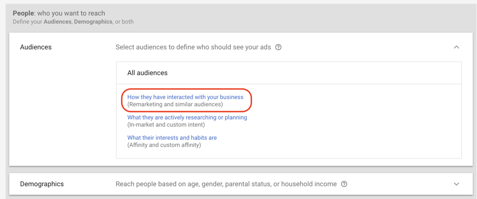google ads setting up display retargeting screenshot 6