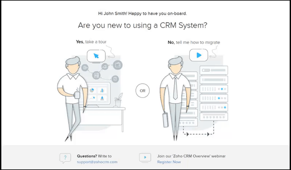 crm system illustration screenshot