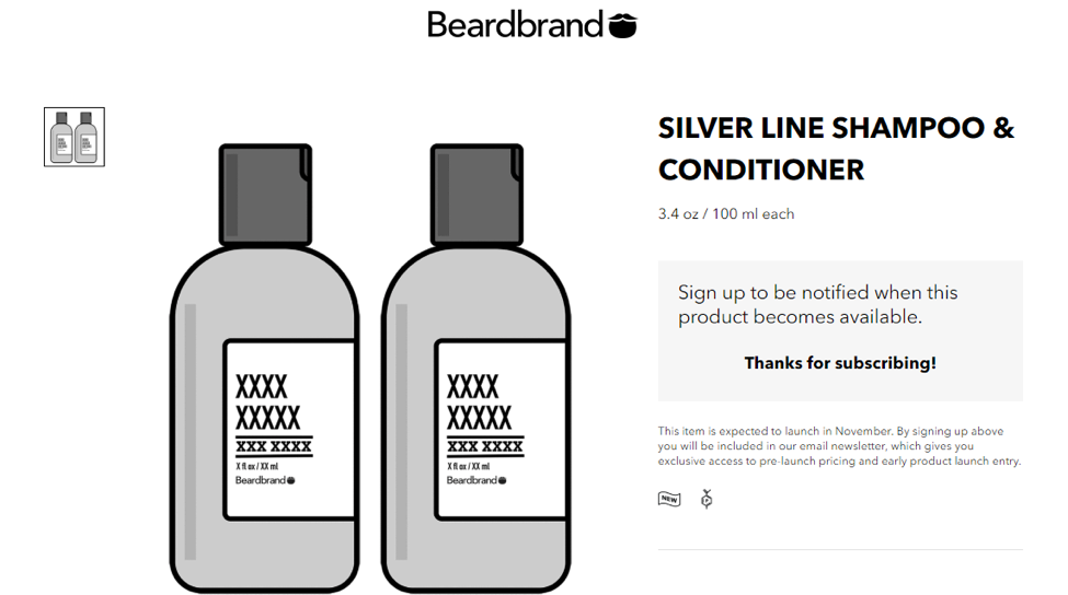 beardbrand pop up screenshot