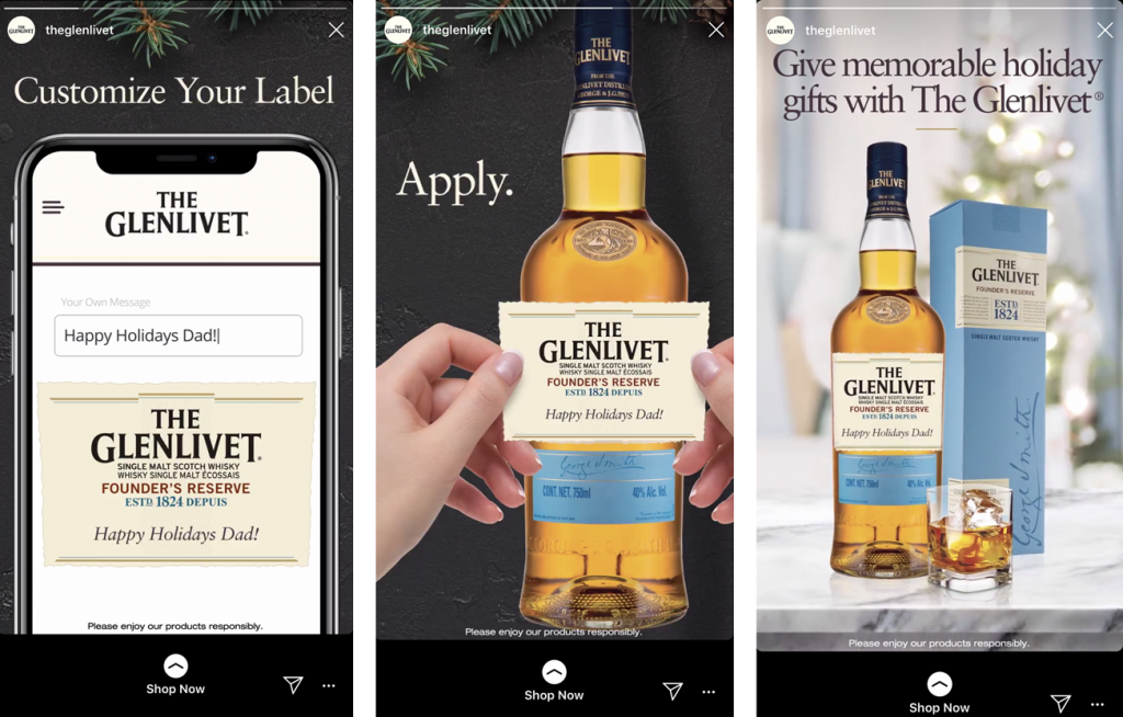glenlivet instagram stories ad