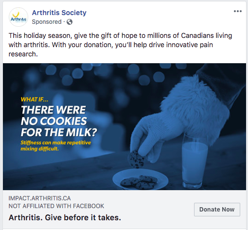 Arthritis Society facebook ad