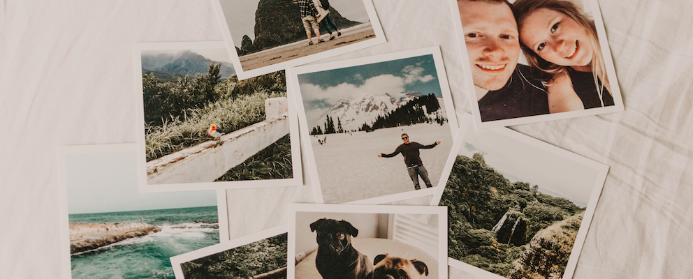 unsplash photos laid out
