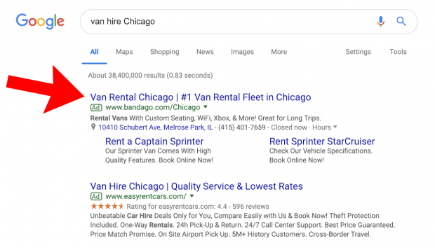 Pairing ads with exact match keywords