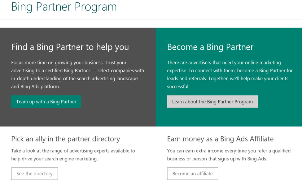 bing partner program