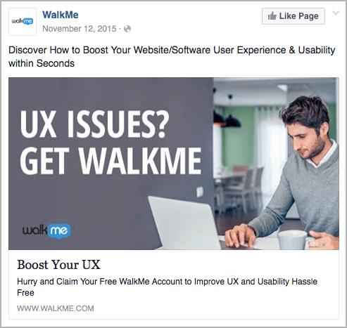 Walkme best facebook ads