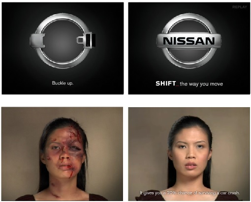 Example of creative banners Nissan