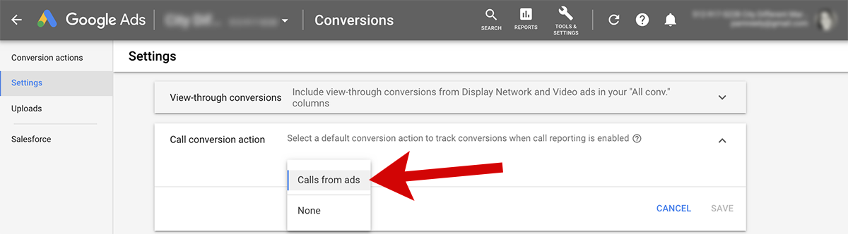How to turn on call tracking for Google Ads