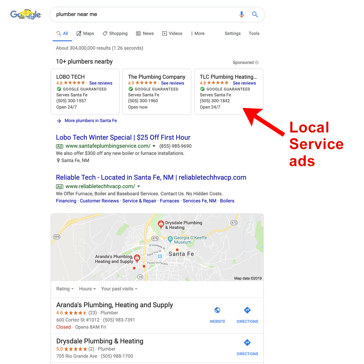 Local Service Ads are one way to use Google Ads for Local Businesses