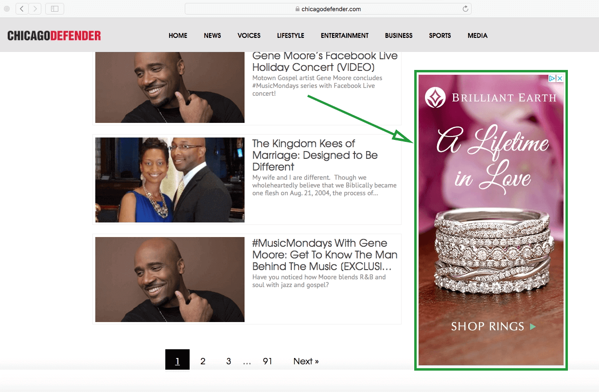 In-Market Audiences - Display Ad Example