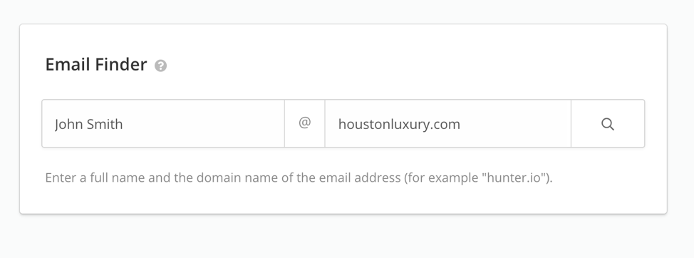 Screenshot of email finding tool Hunter