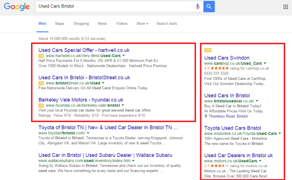 PPC ad examples