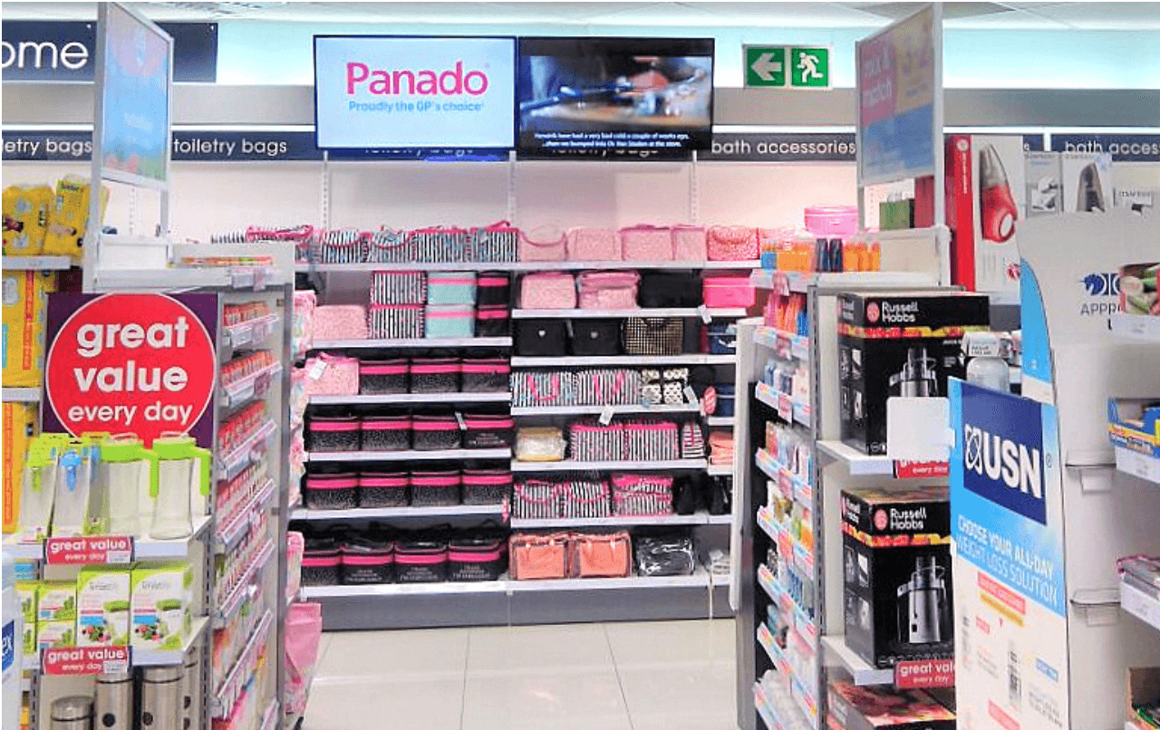 In-store Digital signage captures the attention of whoever was walking by