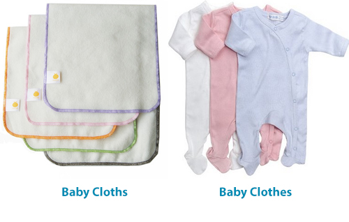 baby cloths vs baby clothes