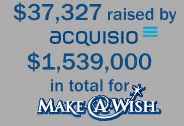 acquisio raises money for make a wish