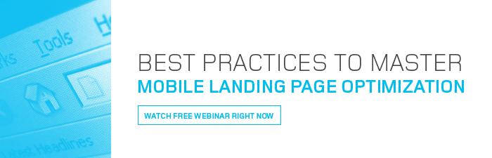 mobile lnading page optimization