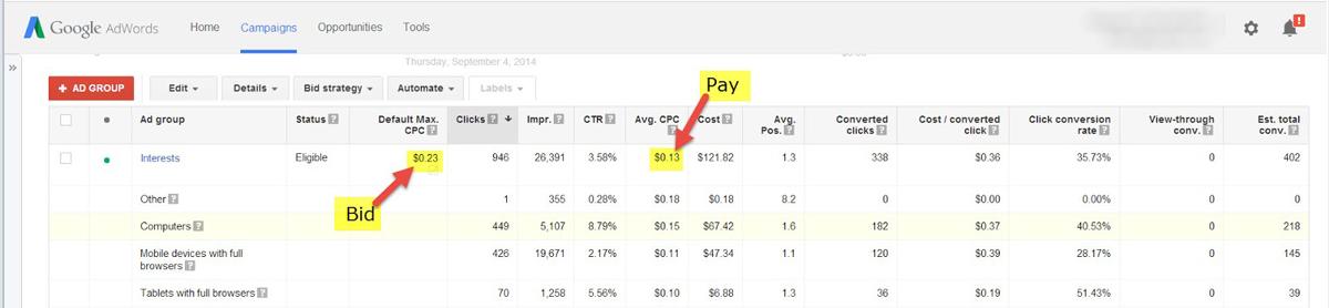 bid vs pay