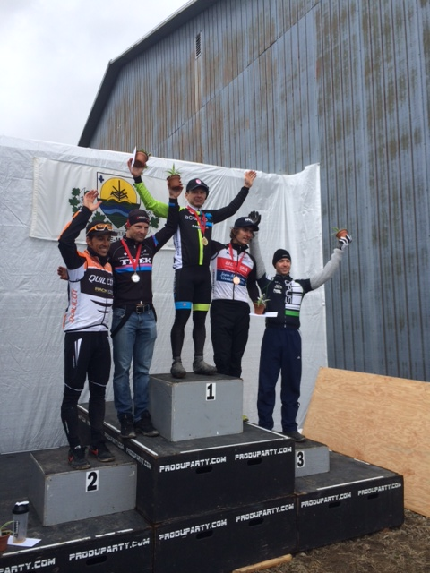 acquisio cycling podium