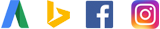 Adword, Bing, Facebook, Instagram