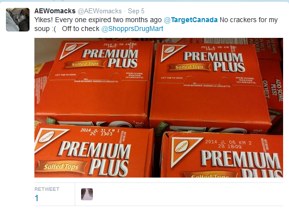 target canada social crackers
