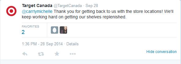 target canada social stock
