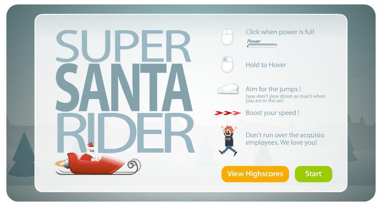 acquisio video game super santa rider - Holidays 2008