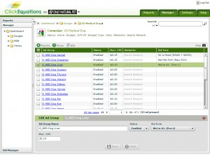 ClickEquations Manager Full Screen