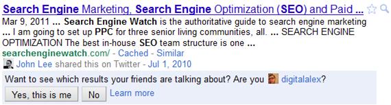 social search serp