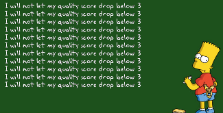 Quality score drop