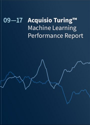 eBook Cover: Acquisio Turing: Machine Learning Performance Report